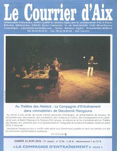 Courrier d'Aix Article Barland page 1